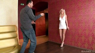 Incomparable blonde babe Beatrix gets her hands aloft a long shaft