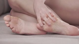 Super hot footjob with Tina Kay