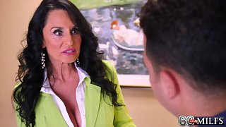 Mature catholic about dark hair and heavy orbs is having insane romp about her paramour