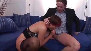 Redhead Lily is sucking Hawkshaw together with masturbating - Hell-fire Porno