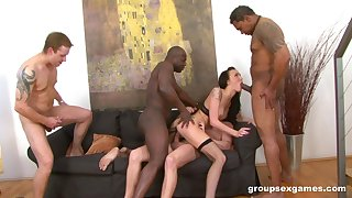 Hardcore interracial anal threesome with Stunner Claire ravaged