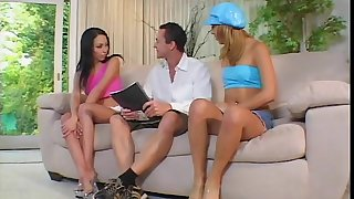 Horny Kat has fun with two best friends.