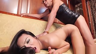 Ladyboy rides one-eyed monster and groans