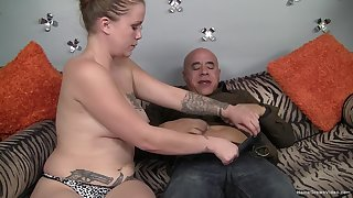 Mature mommy roughly natural tits gets down and dirty roughly a fat flannel