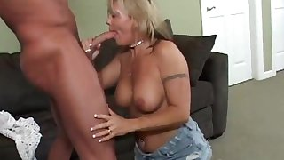 A sensual blwjob by a cougar in all directions a sexy piercing