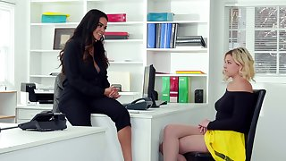 Office affair with diverting girls Daisy Marie and Sophia Lux