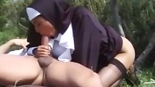 Unholy Sister Karina White Alfresco Copulation